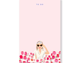 Tulip Girl Notepad