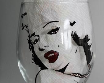 marilyn monroe inspired glass