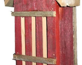 RED Butterfly House from Old Fence Material