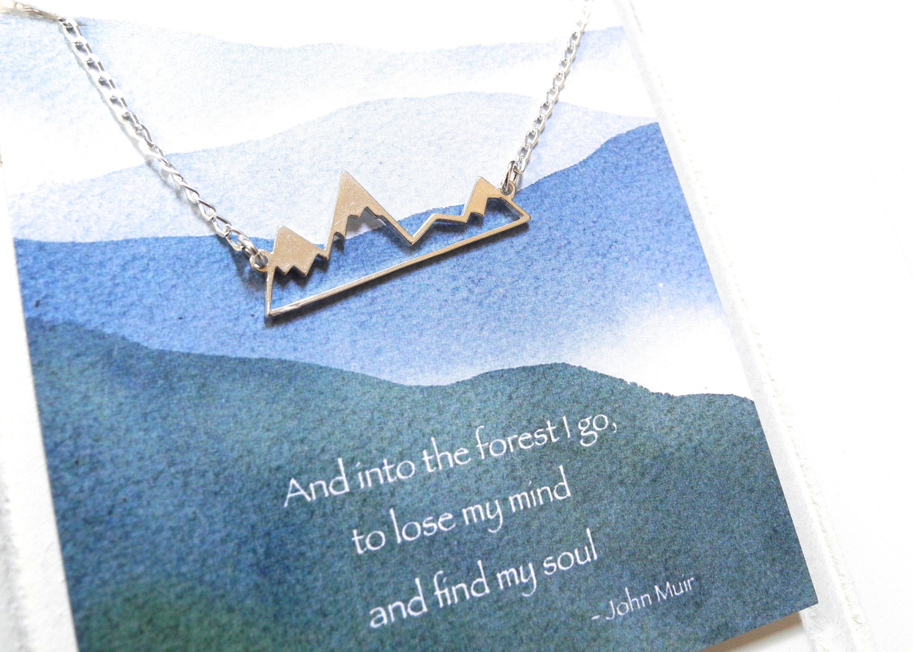 sterling silver mountain necklace inspirational jewelry. Black Bedroom Furniture Sets. Home Design Ideas