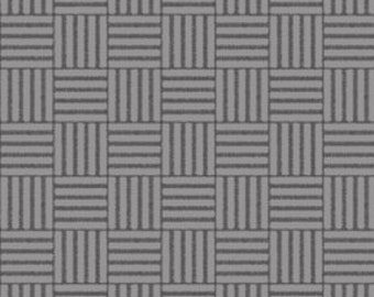 Basketweave - Gray by Quilting Treasures (24447-K) Cotton Fabric Yardage