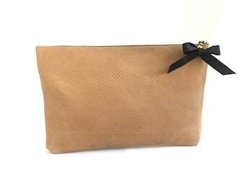 Leather clutch, brown leather bag, leather purse, clutch, small bag, leather bag, night out, gift