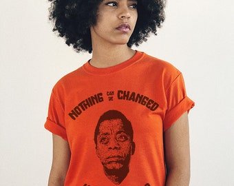 James Baldwin T-Shirt Art Quote Black Lives Matter Tee Shirt Tshirt Black History Black Girl Magic African Print Afrocentric Art Gifts