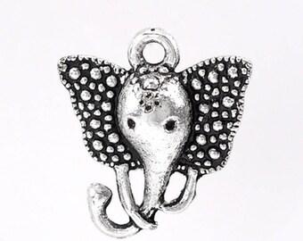 Lot 5 Pendntifs elephant head charms