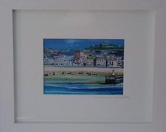 St Ives Framed Print by Cornish Artist Lindsey Keates