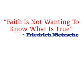 Faith Is Not Wanting To Know Weatherproof Bumper Sticker