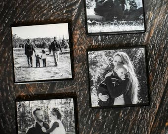 Handmade Photo Ceramic Coasters - Set of 4