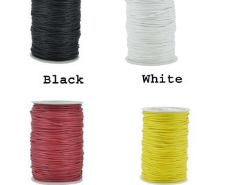 Mandala Crafts Waxed Cord, Beading Cord, 4 Ply, 2mm, 100 Meters, 109 Yards, Different Color Selections