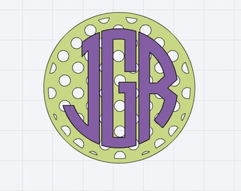 Monogrammed Polka Dot Patterned Circle Decal