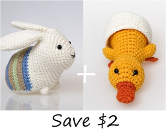Amigurumi Patterns For Sale : Easter bunny amigurumi pattern easter crochet pattern rabbit