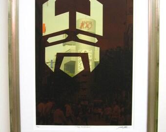 Shibuya TAKUMA YOSHIDA giclee print on archival paper