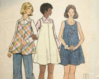 Misses Maternity Dress Sewing Pattern - Misses Maternity Jumper - Misses Maternity Tunic - Misses Maternity Pants - Butterick 3057 - Size 14