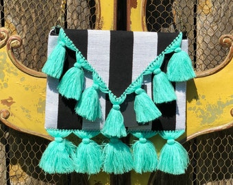Clutch Frida Stripes / Handmade Clutch