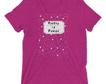 Poetry is Power - Composition Notebook - Short sleeve t-shirt