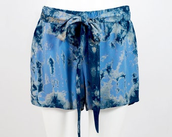 Hand Dyed Shorts - Blue / Navy