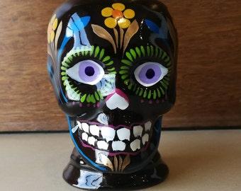 Mexican Sugar Skull Mug, Mexican Mug, Dia de los muertos mug, Ceramic Sugar skull, Day of the dead, Frida Kahlo mug, Sugar Skull Coffee Mug
