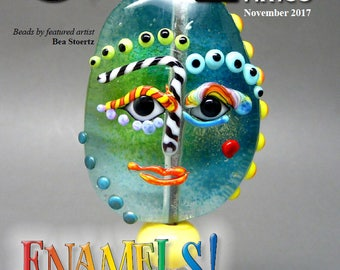 Nov 2017 Soda Lime Times Lampworking Magazine - Enamels - (PDF) - by Diane Woodall