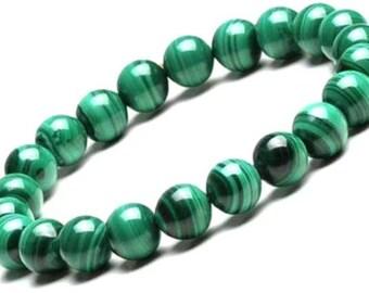 Natural Malachite Jewelry, Green Malachite Bracelet, Green Stone Jewelry,Green Mala Bracelet, Green Stretch Bracelet, Malachite Bracelet