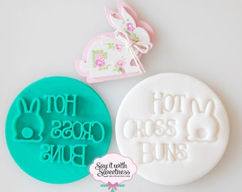 Hot Cross Buns Cookie Fondant Stamp/Embosser