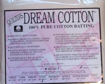 "Quilters Dream Twin Natural Cotton Select Quilt Batting 93"" x 72"""