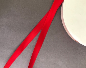 "5yds - 5/8"" P.250 Red DF Satin Ribbon"