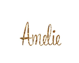 Glitter Iron On Letters, DIY Iron On Name, Gold Iron On Letters