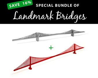 Landmark Bridges, SAVE 16% with this value bundle || Brooklyn Bridge || Golden Gate Bridge