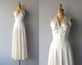 Ardennes silk wedding gown | vintage 1930s wedding dress | silk 30s wedding dress