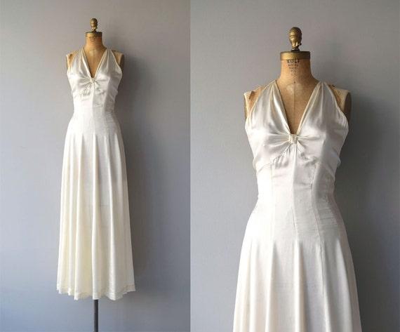 Ardennen Seide Brautkleid Jahrgang 1930 Brautkleid