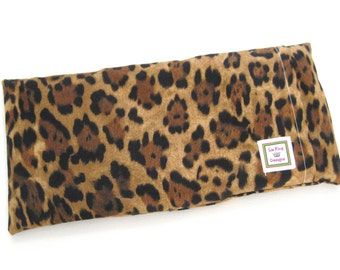 Heating Pad (Microwavable) Cheetah Print // Buckwheat and Rice Heating Pad // Cold Pack // Heat Pack // Removable Cover