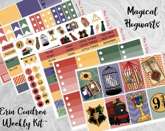 Magical Hogwarts // Erin Condren Planner Sticker Kit | Weekly Sticker Kit | Planner Kit | Harry Potter Planner Stickers | Magic Wizard Diary