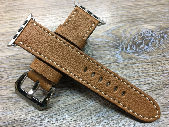 Leather Watch Band | Apple Watch Band | Apple Watch Strap | Leather Watch Strap | Caramel Colour watch band For Apple Watch 38mm & 42mm