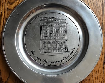 Wilton Columbia, PA Silver Pewter Chicago Symphony Orchestra Plate