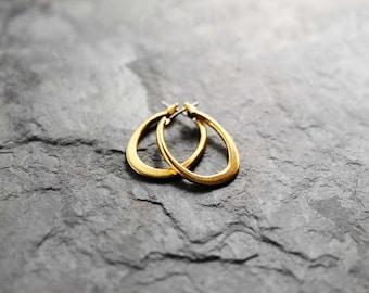 Hoop Earrings, Small Gold Hoops, Small Hoop Earrings, Gold Filled Hoop Earrings, Maya Small Gold Filled Earrings