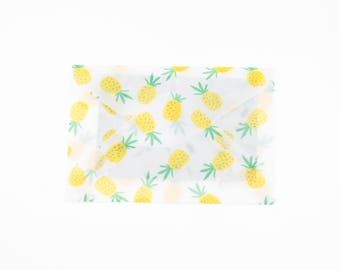 Set of 3 envelopes with pineapples. Envelop