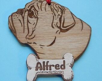 English Bulldog Personalized Christmas Ornament FREE SHIPPING