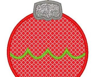 Christmas Ornament Applique 2 Machine Embroidery Design