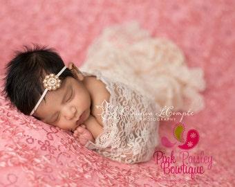 Baby Hair Accessories - Gold Baby Headband - Vintage Headbands - Baby Girl Headbands- Baby Headbands -Infant Headband -Baby Hair bows - Bows