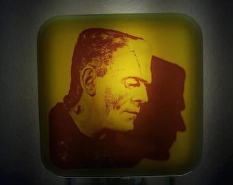 Frankenstein Night Light Retro Universal Monsters Horror Decor Boris Karloff Movie Spooky Creepy Plug In Frankensteins Monster Nightlight