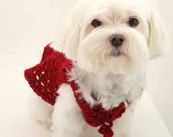 PDF DIGITAL PATTERN:Crochet Dog Clothes Pattern,Dog Pattern,Dog Sweater Pattern,Crochet Puppy Clothes Pattern,Red Dog Clothes,Dog Sweater