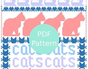 Cats Cross Stitch Sampler PDF Pattern