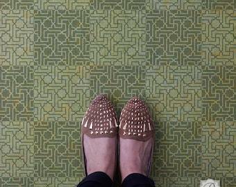Geometric Moroccan Key Craft Stencil for DIY Projects, Custom Floor Tile Design, Furniture, or Kitchen Backsplash