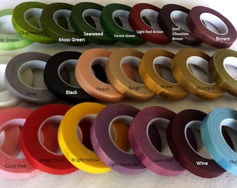 1 roll of floral tape -- 30 Yards, 27 M/per roll (20 Colors, Please READ Description for Available Colors, You Pick The Color)