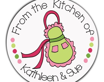 24 STICKERS Personalized Stickers, From the Kitchen Of, Kitchen Stickers, Cookie Labels, Canning Labels, Baking Labels (73)