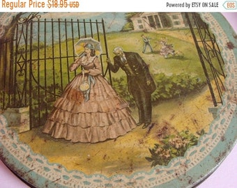 ONSALE Antique1940s Old Rusty and Scratched Lovely Candy Tin