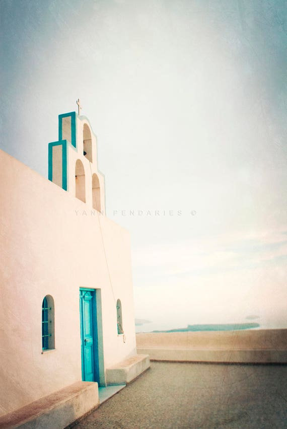 The greek church, Ocean photography, sea theme decor, ocean print, ocean decor, beach wall decor, sea decor, nautical decor,ocean wall decor
