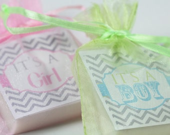 Baby Shower Favors Pink - Baby Shower Soap / Set Of 10