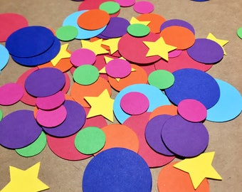Assorted Rainbow Confetti Mix - (150 Pieces!)