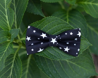 Bow-tie with stars Black
