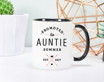 Aunt to be, Auntie Mug, Pregnancy Announcement Mug, Rose Gold Rebel, Aunt to be Mug, Aunt Mug, New Aunt Mug, Pregnancy Reveal, Gift For Aunt